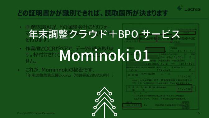 年末調整クラウド+BPOサービス Mominoki 01