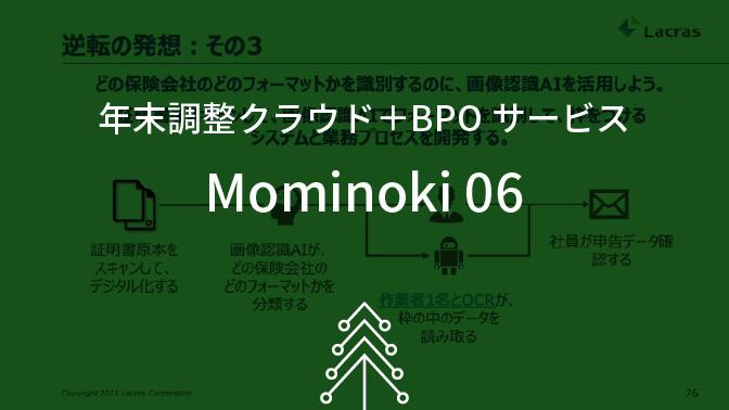 年末調整クラウド+BPOサービス Mominoki 06